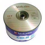 Cd -r Verbatim 700mb 52x Torre Con 50 #97488 Facturado Full