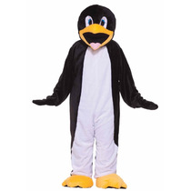 Botarga Disfraz Traje Felpa Tamaño Adulto Pingüino Fn4