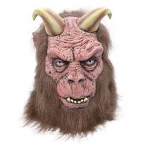 Traje Bestia De Cuernos - Máscara Adulto Con Halloween Cabe