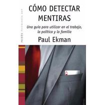 Como Dectectar Mentiras Paul Ekman Ebook Pdf Epub