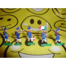 Soldados De Plomo Antiguos Miniatura 3cm Coleccion De 5 Pzas
