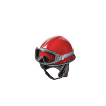 Casco De Rescate E Incendios 6-1/2 A 8 Rojo Termoplástico