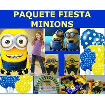Paquete Fiesta Minions,globo Gigante Minions,fiesta