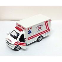 Die Cast Ambulancia De Rescate Equipo De Camiones W / Puerta