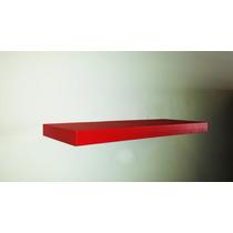 Repisa Minimalista Flotante 60cm Magica Roja Moderna De Mdf