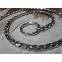 Collar Holandés De Lujo Para Perro, Tipo Vibora 40cm Cromado