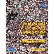 Libro: Estadística Para Administración Y Economía Pdf