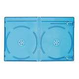 100 Estuche Blu Ray Doble 7mm Con Cubierta Plastica Full