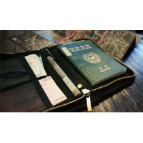 Porta Pasaporte Negro - Tarjetero Billetera Organizador