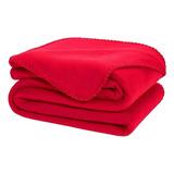 Cobertor Melocotton Merrow Matrimonial Rojo Liso