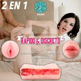 Masturbador Realista Vagina Boca 2 En 1 Sex Toy + Regalos