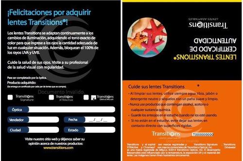 Lentes Transitions Signature Vii C antirreflejante Y Armazón. Precio     2450 Ver en MercadoLibre 5de841eb6e