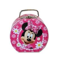 1 X Monedero Disney Minnie Mouse Estaño En Rosa W / Margarit