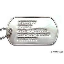 Dog Tags Placa S De Identificacion Militar