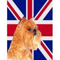Bruselas Griffon Con Inglés Union Jack Británica Bandera D