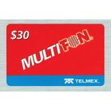 Tarjetas Telefonicas Ladatel, Multifon De $30 Paq 25 Tarjeta