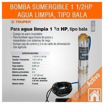 Bomba Para Agua Limpia Truper 1 1/2 Hp Tipo Bala