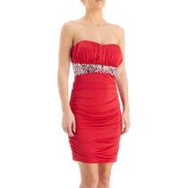 Vestido Rojo Strapple Talla 3 Extra Chica Fiesta Sexy