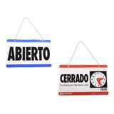 Letrero Abierto/cerrado Para Negocio Estética Tienda Horario