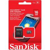 Memoria Micro Sd Sandisk 16gb Cl4 C/adaptador
