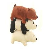 3 Peluches Bare Bear Osos Escandalosos Panda Polar 22 Cm