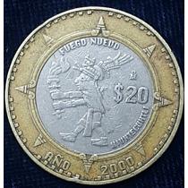 Moneda $20 Fuego Nuevo Año 2000