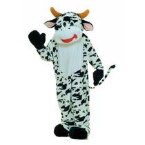 Botarga Disfraz Traje Felpa Vaca Negocio Tamaño Adulto Hm4