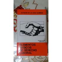 Elementos Básicos De Derecho Laboral De De La Cruz Gamboa