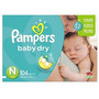 Pampers Baby Dry Pañales Súper Paquete Tamaño N 104 Conde