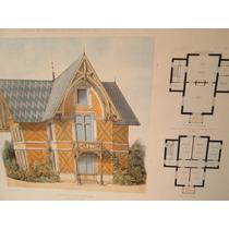 Plano Arquitectónico Antiguo Litografía.arquitectura.