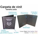 Carpeta Tamaño Carta, De Plastico Vinil Electrosellado