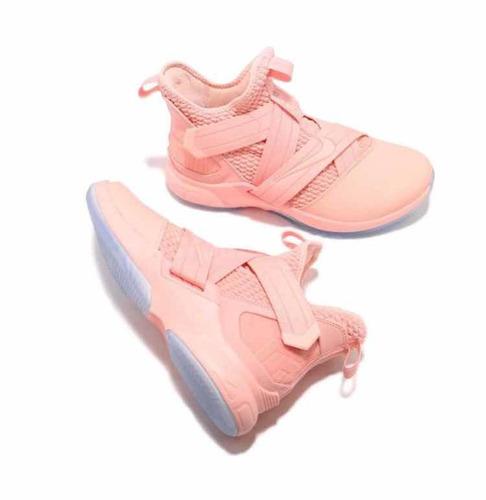 ba4bd7a98166e Tenis Nike Básquet Lebron Soldier Xii Rosa  9 Y  9.5 + Caja en venta ...