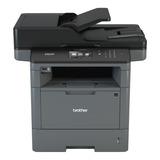 Impresora Multifunción Brother  Dcp-l5650dn 110v Gris Y Negra