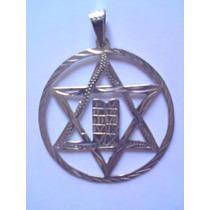 Dije Estrella De David Con Tablas De La Ley, Plata, Judaismo