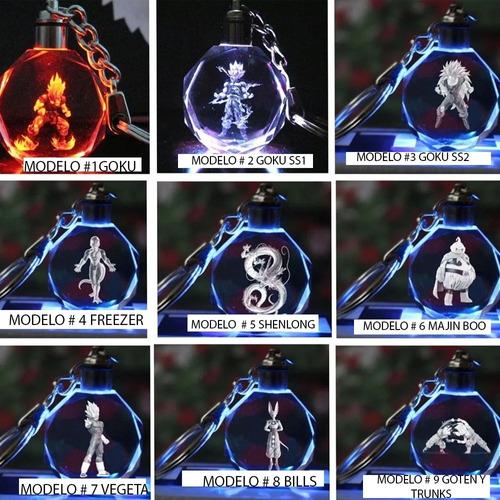 Llavero Dragon Ball Multicolor  Luz Led Full