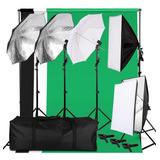 37 Piezas- Set Estudio Fotográfico Con Softbox Y Sombrillas.
