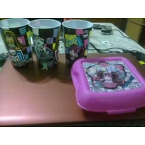 Monster High, 3 Vasos, Sandwichera, Nuevo Vbf