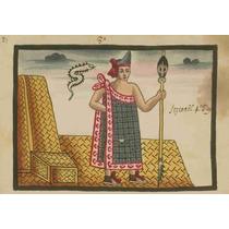 Lienzo Tela Códice Tovar Itzcóatl Rey Azteca 50 X 72 Cm