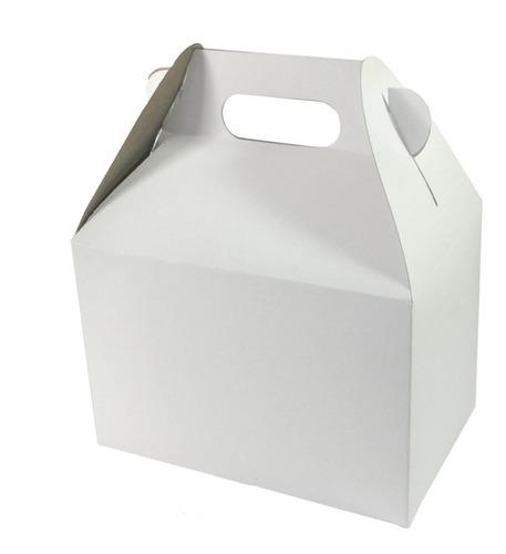 30 Cajas Cartón Boxlunch, Lonchera, Cajita, Mediana, Dulces.