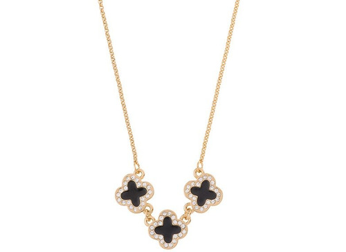07c54451bf1f Nice Collar Con 3 Dijes Cruz Con Piedras Baño De Oro 18 K en venta en  Veracruz Veracruz por sólo   399