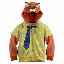 Disney Store Zootopia Nick Wilde Hoodie 7/8 Niños 2016