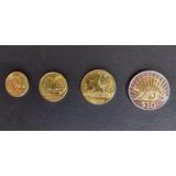 Coleccion De 4 Monedas De Uruguay Actual
