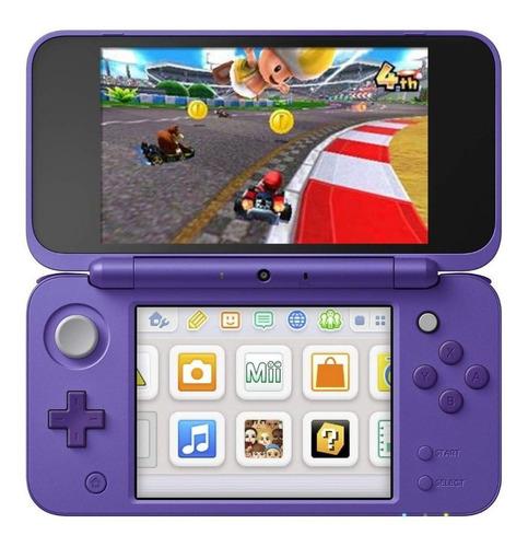 Nintendo New 2ds Xl Mario Kart 7 Bundle Violeta Y Plata
