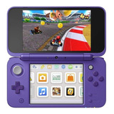 Nintendo New 2ds Xl Mario Kart 7 Bundle Violeta Y Plata
