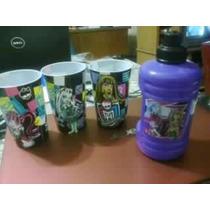 Monster High, 3 Vasos, Cilindro, Nuevo Vbf