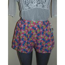Shorts Hollister Co. T-s Floral Nuevo A La Cintura Blusas