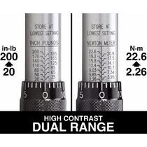 Torque Torquimetro Tekton 24320- 1/4 Click 20-200 Pulg/lbs