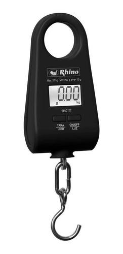 Báscula Comercial Digital Colgante Rhino Bac-20 20 Kg Negro