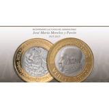 Moneda De 20 Pesos Conmemorativa  Morelos Circulada.