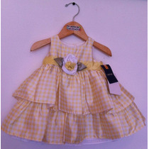 Vestido Cherokee Bebe Niña Talla 3 Meses Nuevo Con Etiquetas